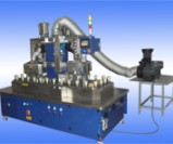 Cosmetic bottles' two-station inner spraying production line